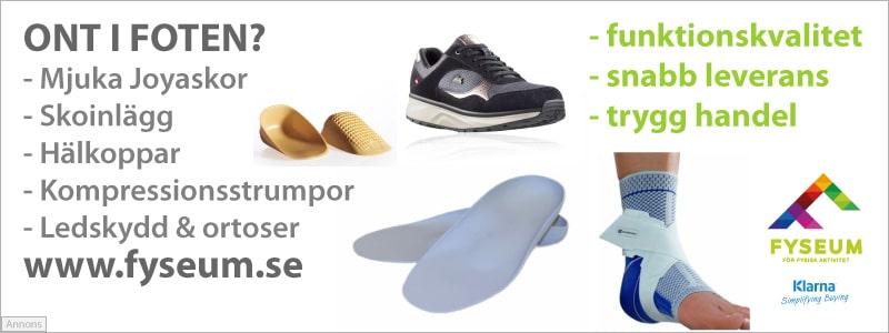 Köp skoinlägg, skor och skydd för ont i foten hos Fyseum.se
