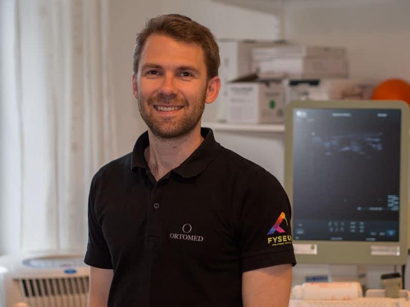 Fysioterapeut, sjukgymnast Rasmus hos Ortomed Göteborg