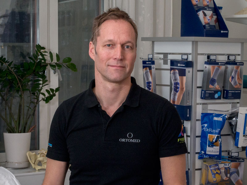 Rickard Järrebring fysioterapeut hos Ortomed Göteborg