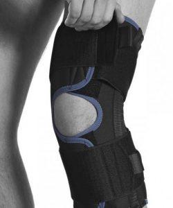 Knäskydd av påläggsmodell med stöd och avlastning av smärta i knät