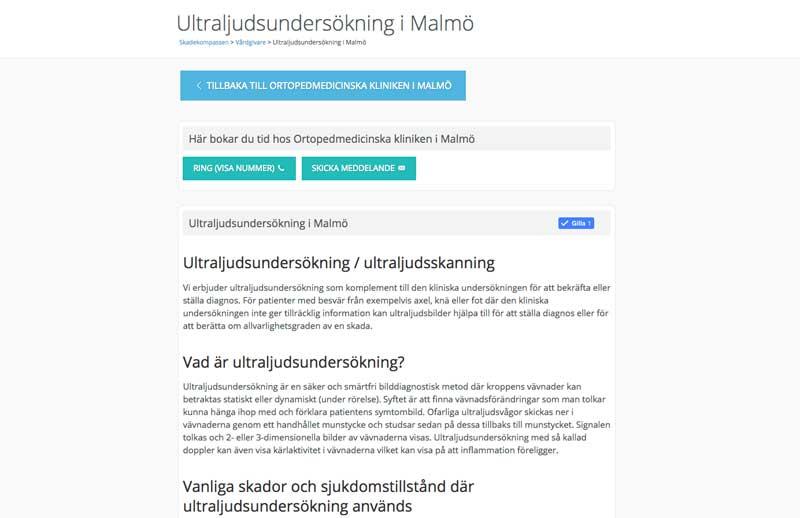 Kategorisida skadekompassen ultraljud i malmö