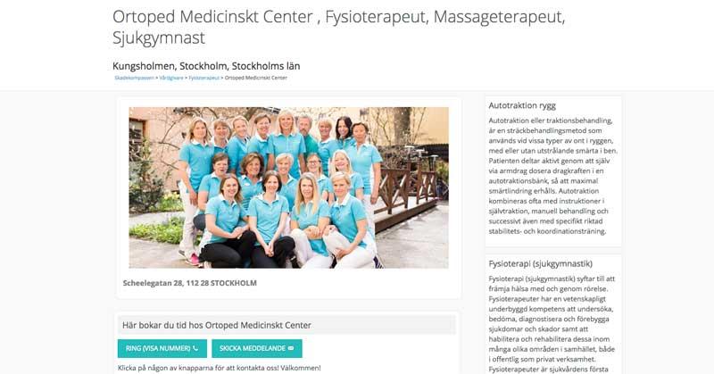 Läkare, fysioterapeuter, naprapater hos Skadekompassen.se