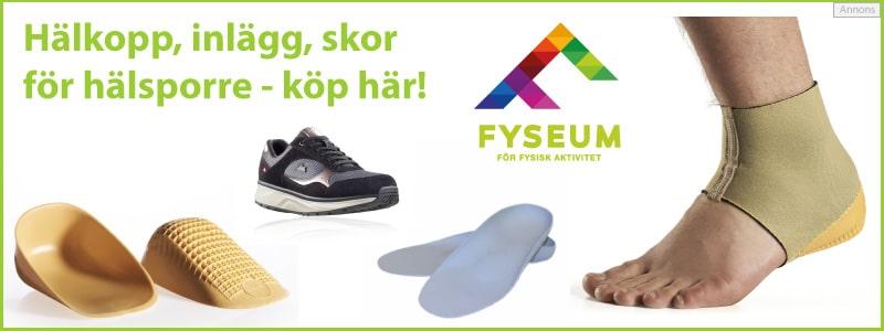 Köp hälkopp, inlägg och skor mot hälsporre hos Fyseum.se