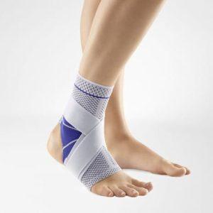 Mjukt fotledsskydd vid stukad fot