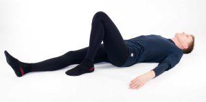 Släpcykel. Övning vid korsbandsskada för att öka rörlighet och tillföra cirkulation i knäled vid skada på korsband, främre eller bakre.