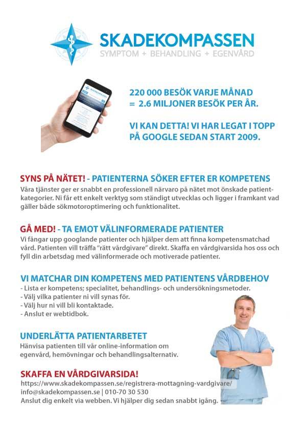 Presentation av Skadekompassen för vårdgivare