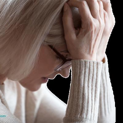 Ångest, oro och stress kvinna