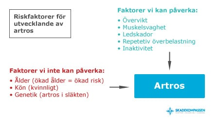 Riskfaktorer vid artros