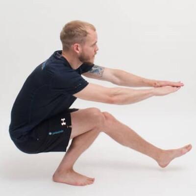 Enbens knäböj - övning för lår styrka