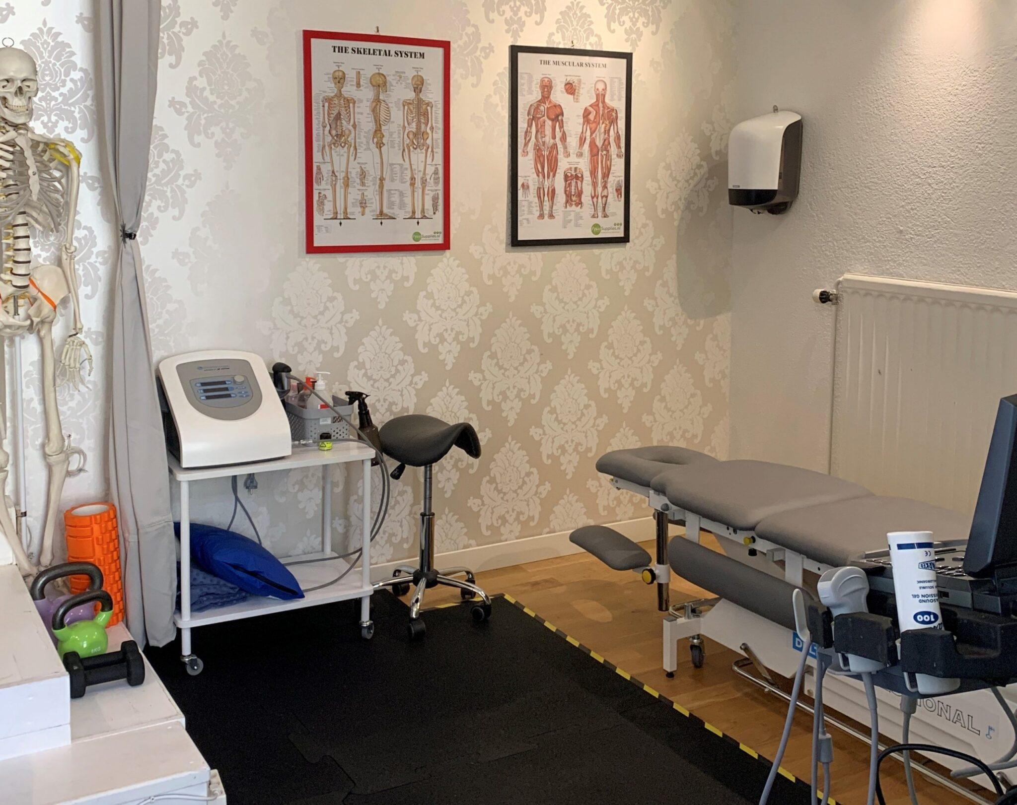 Behandling rum sjukgymnast Fysiomedic i Uppsala