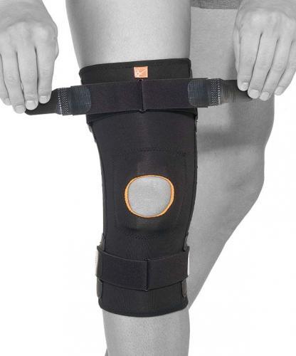 Knästöd GenuFit LIGA smidigt och tunt med spännband och styva skenor för sport