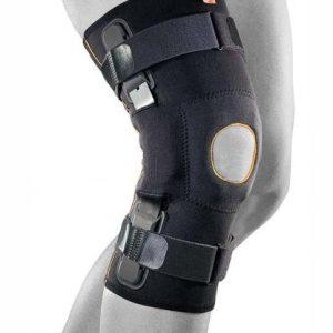 Knästöd GenuFit LIGA smidigt och tunt med kompression och styva skenor för idrott