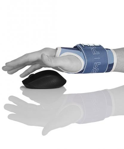 Handledsskydd med öppen hand för dator och datamus