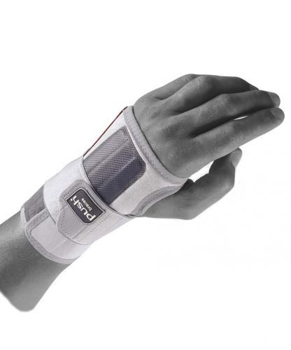 Handledsstöd med skena för stöd mot böjning och sträckning av handled