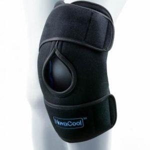 NovaCool knäskydd med kyla och kompression mot svulland och smärta i knä.